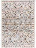 Benuta Teppich Vintage Safira Blau 160x235 cm - Vintage Teppich im Used-Look