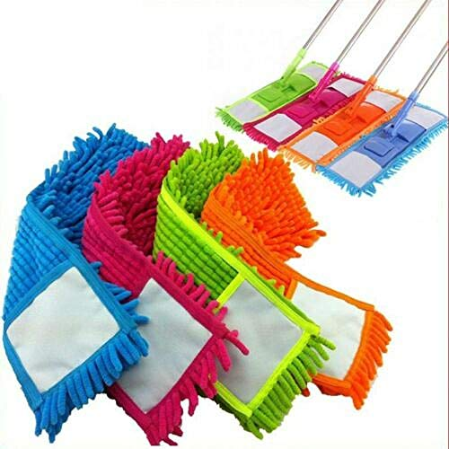 Bodenstaub-Reinigungspad Mops Head Home Refill Mikrofasertuch @ Blau -