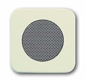 Cache pour haut-parleur blanc crème Busch-Jaeger-Interrupteur