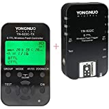 Yongnuo YN622C-KIT sans fil i-TTL Trigger Kit avec écran LED pour les appareils photo Canon, comprend contrôleur YN622C-TX et YN622C Transceiver + WINGONEER Diffuseur de Flash