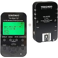 Youngnuo YN622C-KIT Inalámbrico Disparador E-TTL Kit de Disparo del Flash con Pantalla LCD para Canon, Incluye Un Mando YN622C-TX y Un Transceptor YN622C + WINGONEER Flash Diffuser