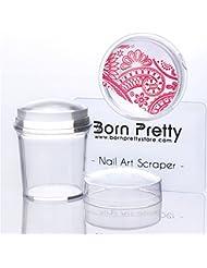 Born Pretty 1Pc 3.9cm Silicone Tampon Clair en Silicone & BORN PRETTY Raclette Nail Art Manucure de Stamping #38612