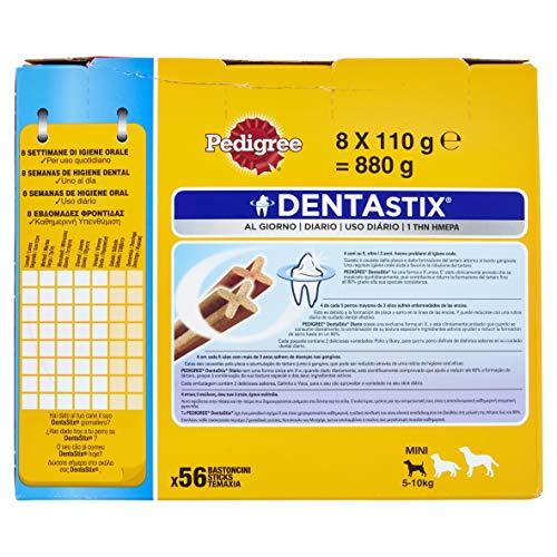 Pedigree DentaStix Hundesnack für kleine Hunde (5-10kg), Zahnpflege-Snack mit Huhn und Rind, 1 Packung je 56 Stück (1 x 880 g) - 7