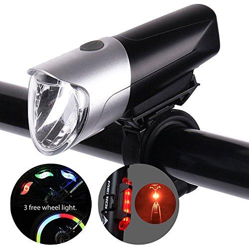 Blinkle Bike Licht Fahrrad Licht USB Wiederaufladbares, Wasserdichtes Ultimate Beleuchtung von Super Bright Front Fahrrad Licht, Rücklicht und Whell Licht