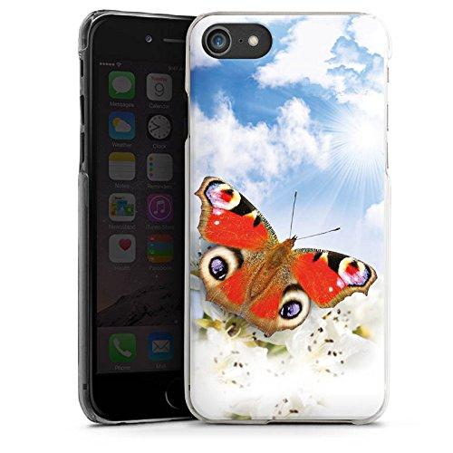 Apple iPhone X Silikon Hülle Case Schutzhülle Schmetterling Blumen Sonne Himmel Wolken Hard Case transparent