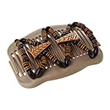 Suneast Magic Perles de bois double pince à cheveux Slide extensible Peigne à cheveux clip pour femmes filles Mariage Accessoires–Marron