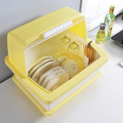 Cutlery Drain Rack Dish Basket Kitchen Plastic Craft Hook Drainer Drip Tray Storage Holder With Cover Box LINAG , D