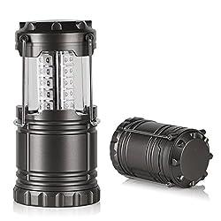 LED Campinglampe,Crenova® Semptec Superhell Campingleuchte LED Campinglampe Gartenlampe mit 30 einzelne LED-Lampen & 3 Helligkeitsstufen