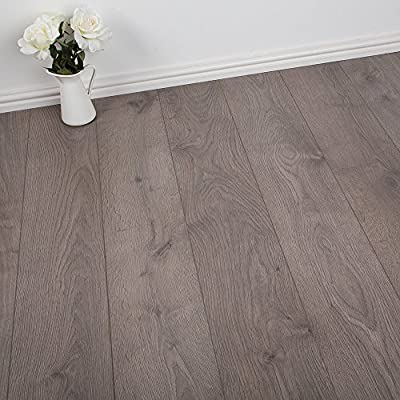 2.47m2 Commercial AC3 Laminate Flooring - Oak Genova Grey Effect - 7mm