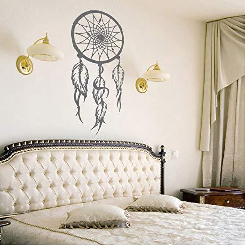 (Lbonb) Vinilo AtrapasueñosSímbolo De La Etiqueta De La Pared Amuleto Etiqueta De La Pared Home Living Room Decor Extraíble Dreamcather Mural De Pared 28 * 57 Cm