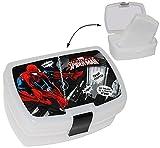 """Brotdose - """" Spider-Man """" - mit extra Einsatz / Einlegefach - Brotbüchse für Kinder - Küche Essen / Spider Spinne Spider-Man - Junge Vesper Dose - Lunchbox - Trennwand"""
