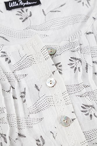Ulla Popken Femme Grandes tailles Tunique imprimée estivale tendance 700776 Blanc