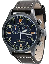 Timex Herren-Armbanduhr Chronograph Quarz Leder TW2P84100