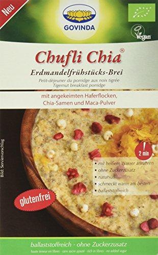 Haferflocken Chia Samen Mit (Govinda Chufli Chia Erdmandelfrühstücks-Brei, 2er Pack (2 x 500 g))