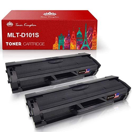MLT-D101S, Toner Kingdom Compatibile Samsung Cartuccia Toner, 1.500 Pagine, Nero, Compatibile con Samsung ML-2160 ML-2165 ML-2165W ML-2162 ML-2168 SCX-3405FW SCX-3400FW ML-2164W SF-760P(2-pack)