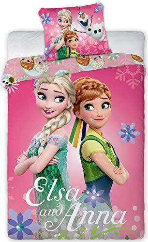 Disney 112 Frozen Die Eiskönigin Baby Wende-Bettwäsche Set 100 x 135cm -