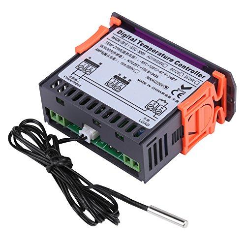Digitaler Temperaturregler, 110-220V Temperaturdifferenzregler mit Heiz- und Kühltemperaturregler(10A) -