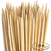 Pinchos de malvavisco de bambú Pinchos de barbacoa XXL extra largos. Ideal para barbacoas, para perritos calientes, salchichas y hoguera. 900 x 5 mm. 110 unidades.