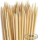Marshmallow-Spieße aus Bambus. Extralange XXL Grillspieße. Perfekt zum Grillen, für Hotdogs, Würstchen und Lagerfeuer. 900mm x 5mm. 110 Stück
