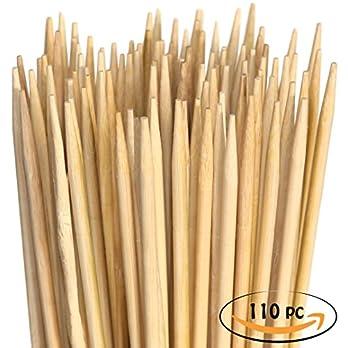 Marshmallow Spiee Aus Bambus Extralange Xxl Grillspiee Perfekt Zum Grillen Fr Hotdogs Wrstchen Und Lagerfeuer 900mm X 5mm 110 Stck