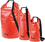 Xcase Seesäcke: Urlauber-Set wasserdichte Packsäcke 16/25/70 Liter, rot (Dry Bag Beutel)