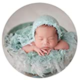 Zeroest Zeroest Baby Photography Props Luxurious Hat Photo Shoot Outfits Newborn Girl Crochet Costume Infant Knitted Hats (Light Green)
