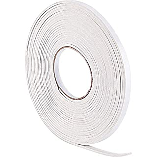 10 m Foam Draught Excluder Weather Strip Tape Weatherstrip Weather Seals for Window Door Sealing (3 mm, White)