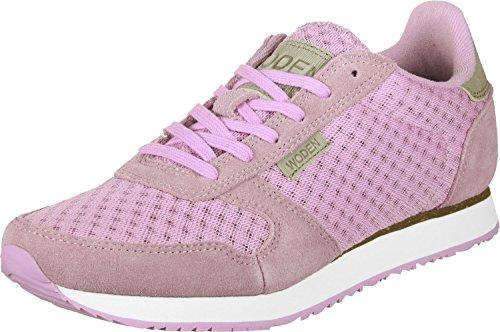 Woden Ydun Suede Mesh, Sneaker Donna Rosa (Bright Lila)