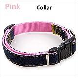 TYJY Kragen Stereotype Seil Wear-Resisting Cowboy Genäht Zugseil Brustgurte Collar Set Jean Geschirre Für Hund, M