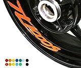 4 X Felgen Motorrad Bike Aufkleber Sticker Decal SUZUKI TL 1000 S für Vorder und Hinterrad Innenrand Aufkleber Sticker Felgen Set Tuning
