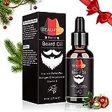 Olio da Barba per Uomo - BEAU-PRO Olio Cura Barba Professionale - Beard Oil Rinfrescante e Ammorbidente - Barba Olio 100% Naturale Olio per favorire la crescita di Barba e Capelli(60ml)