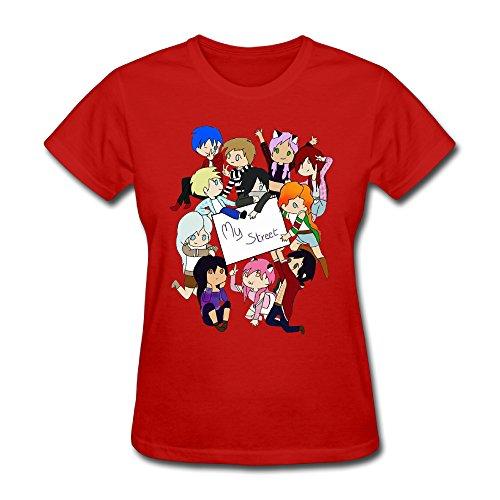 Q-QQ9 Damen T-Shirt Gr. XL, rot (Custome Hunger Games)