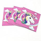 Party Propz Unicorn Paper Tissue Napkins Pack (20 Pcs)