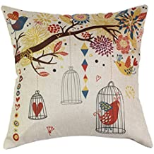 Patrón Birdcage almohadilla almohadillas de cama Almohadas de coches (sin almohada)