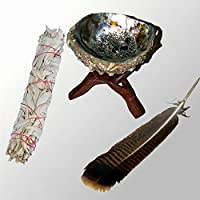 Big Smudge SET: [W7_T6_A6_F10] White Sage XL-Smudge and big abalone shell 15-18 cm (abalone shell 6-7Inch) with... preisvergleich bei billige-tabletten.eu