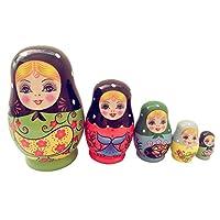 MagiDeal 5 Piezas Juegos de Babushka Matryoshka Jerarquización Muñecas Rusas Madera para Niños de MagiDeal