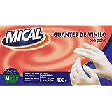 Mical - Guantes de vinilo con polvo - talla M - 100 unidades