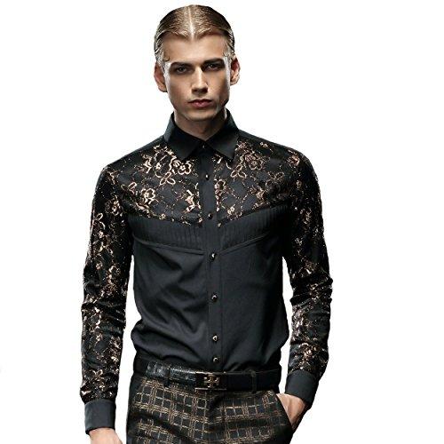 Fanzhuan camicia uomo slim fit elegante camicia poliestere uomo camicia uomo nera camicia da uomo slim