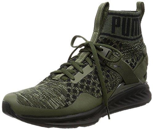 Puma 189697 05 Ignite Evoknit Herren Sneaker Oliv 45