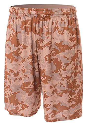 A4 N5322-sac Bedruckte Camo Performance Shorts, Medium, Sand (A4 Camo Shorts)