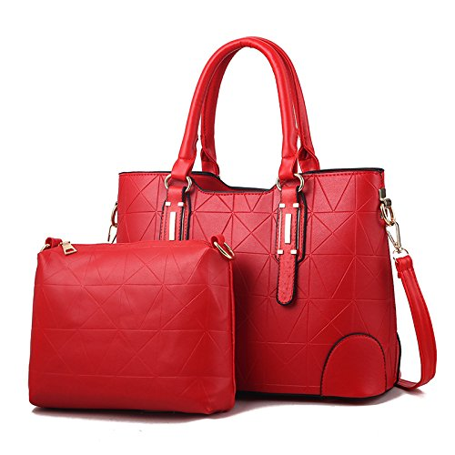 GUANGMING77 Spalla Borsa Messenger Tracolla Messenger Bag Lady _,Golden Red red