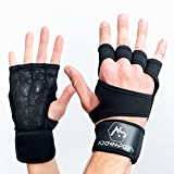 Adonissports Fitness Handschuhe mit Handgelenkbandage für Damen und Herren – Trainingshandschuhe für Crossfit, Bodybuilding, Gym – Optimaler Grip + Handgelenk Bandage - Fitnesshandschuhe