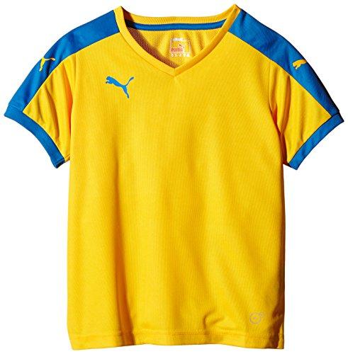 Puma Unisex-Kinder T-Shirt Pitch, Gelb (Team Yellow/Puma Royal), Gr. 9-10 Jahre (Herstellergröße: 140) (Mädchen-fußball)
