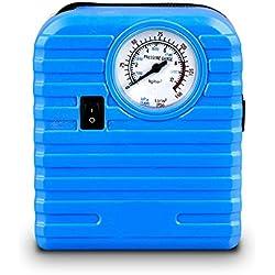 Mini gonfleur de pneu Compresseurs d'air, pompe à air automatique portative de compresseur d'air 100PSI 12V DC pour le camion de voiture RV de VUS Basketballs et d'autres gonflables (Bleu)