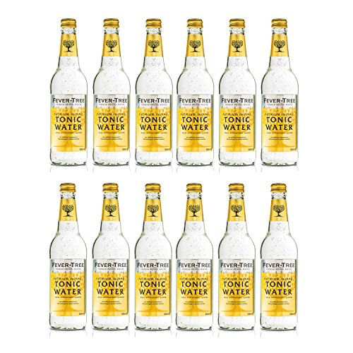 Fever Tree Indian Tonic Water 0,5 Liter Flaschen, 12er Pack (12 x 500 ml)