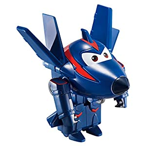 Super Wings - Chase, figura transformable Super Wings, 6 x 5.5 x 5.5 cm (ColorBaby 85216)
