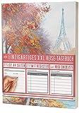 """Mein Einzigartiges XXL Reisetagebuch: 122 Seiten, Register, Kontakte / Neue Auflage mit Reise Checkliste / PR401 """"Frankreich-Paris"""" / DIN A4 Soft Cover"""