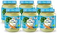 Naturnes Bio Broccoli, Pastinaak, Kalkoen 8+ Maanden Babymaaltijd - 6 Potjes Van 190 Gram - babyvoeding
