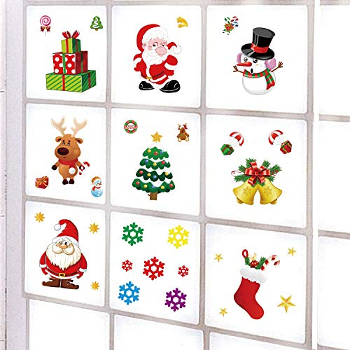 Kungfu Mall 9 Unids Adhesivos Navidad Decoración