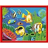 Ravensburger - 27942 - Loisir Créatif - Numéro d'art - Petit Format Poissons Multicolores